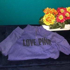 PINK Victoria's secret quart zip jacket size S
